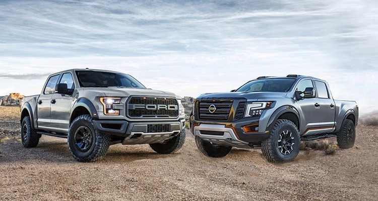 Chevy Reaper Ford Raptor Vs Nissan Titan Warrior