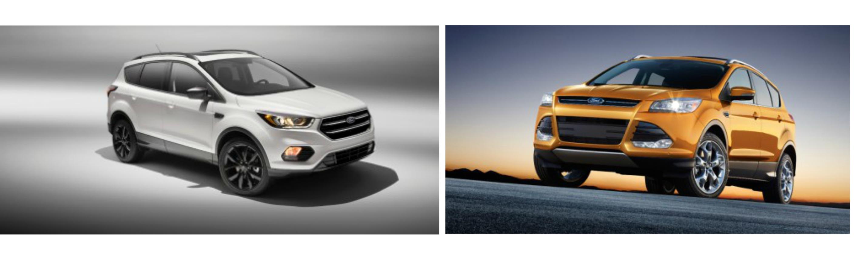 2016 Ford Escape vs 2017 Ford Escape